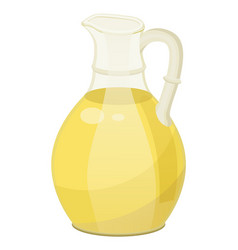 Oil remedy in glass bowl for hair care vector