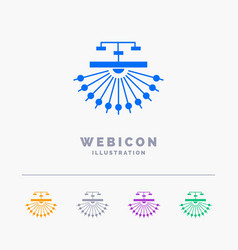 Optimization site site structure web 5 color vector