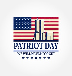 Patriot Day vintage design vector