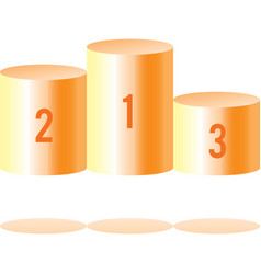 Pedestal with numbers vector