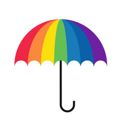 Rainbow umbrella simple vector