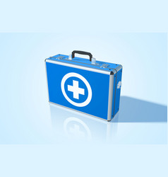 Realistic first aid kit vector