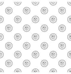 Round watch pattern simple style vector