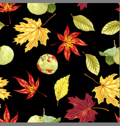 seamless pattern with autumn bouquet vector image