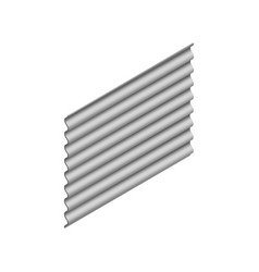 Sheet of wave slate in isometric vector