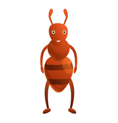Smiling ant icon cartoon style vector