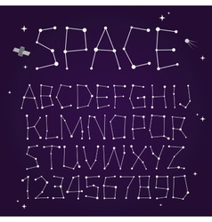 Space font vector image