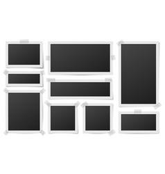 square photo frames photos framing frame vector image
