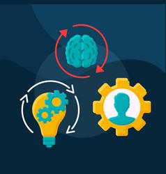 Talent management flat concept icon vector