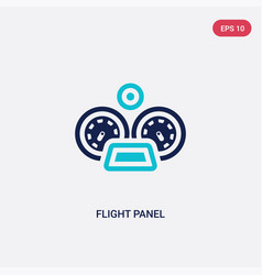 Two color flight panel icon from airport terminal vector