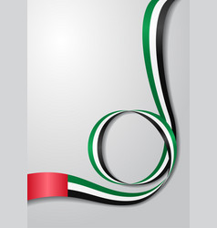 united arab emirates flag wavy background vector image