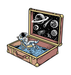Universe in a suitcase vector