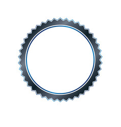 vintage round frame created with curves and wavy vector image