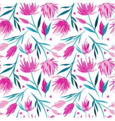 watercolour floral seamless pattern vector image