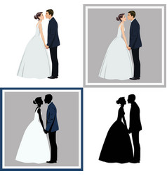 Wedding coupleset of four vector