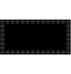 white spiderweb border with copy space on black vector image
