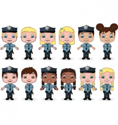 children police vector image