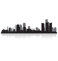 Detroit usa city skyline silhouette vector