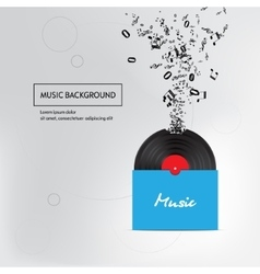 Music plate pack background Isolated vector image vector image
