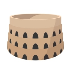 Roman Colosseum cartoon icon vector image vector image