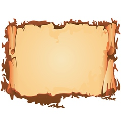 Scroll of old parchment vector image
