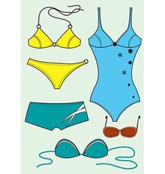 Swimsuits for woman vector image vector image