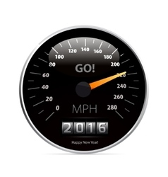 Calendar 2016 in speedometer car vector image vector image