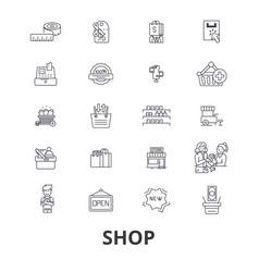shop shopping bag shopping mall store shopping vector image vector image