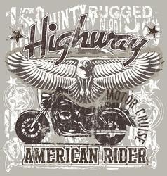 American highways rider vector image vector image