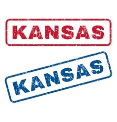 Kansas rubber stamps vector