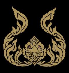 Lion golden face vector image