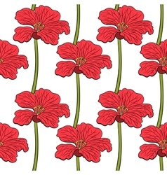 Red Flowers Seamless Pattern vector image