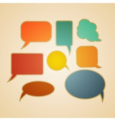 Speech bubbles in retro style vector image vector image