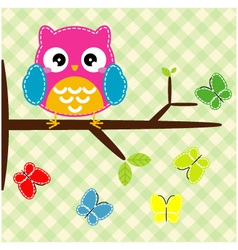 Whimsical owl vector image vector image