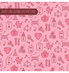 Baby Seamless Pattern Backgound vector image