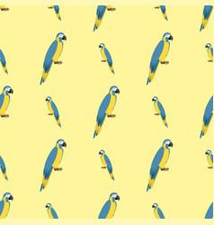cartoon tropical parrot wild animal bird seamless vector image