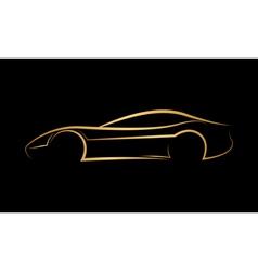 Golden abstract car logo vector image vector image