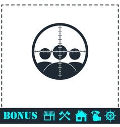 Kill icon flat vector