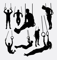 Rings sport training silhouette vector