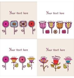 Set of four Floral composition vector image