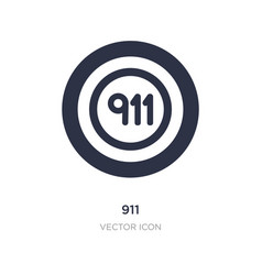911 icon on white background simple element from vector
