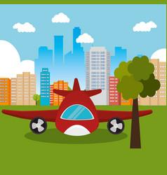Airplane flight transport icon vector