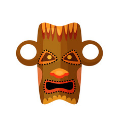 ancient africa pagan idol mask isolated on white vector image
