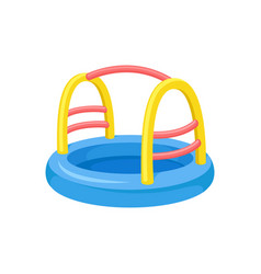 attraction for children colorful inflatable pool vector image