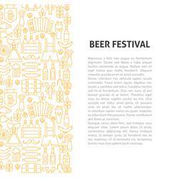 beer fest line pattern concept vector image