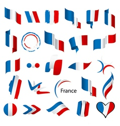Biggest collection of flags of France vector