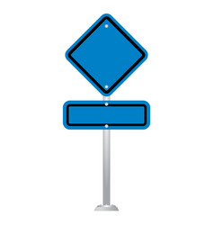 blank road sign board vector image
