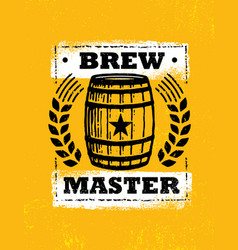 brew master craft beer local brewery artisan vector image