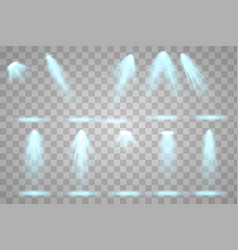 Bright lighting with spotlights vector