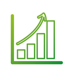 Business growth bar graph finance increase vector
